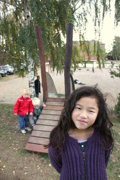 Børn på rutsjebane