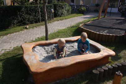 Børn i Sandkasse